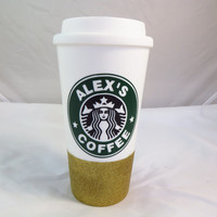 Personalized Starbucks Coffee Cup * Glitter Dipped * Coffee mug * Personalized Coffee Mug * Starbucks Coffee Cup * Coffee Cup