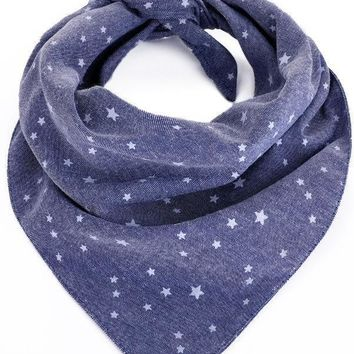 Star Chambray Dog Bandana