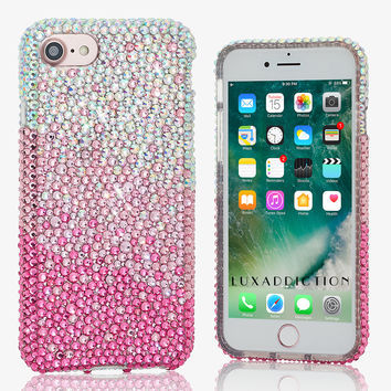 AB Clear Crystals Fades to Pink Design (style 910)
