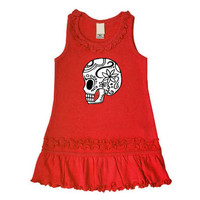 Sugar Skull Red Sleeveless Dress