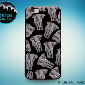 African Elephant Pattern Multiple Colors Rubber Case for iPhone 7 Plus iPhone 7 iPhone 6s 6 Plus iPhone 6s 6 iPhone 5s 5 5c iPhone SE