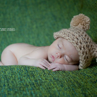Double Pom Jester Baby Hat - Photo Prop | Luulla