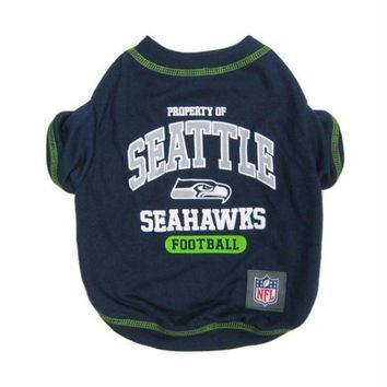 DCCKT9W Seattle Seahawks Pet T-Shirt