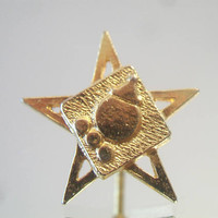 Jack In The Box Lapel Pin Fast Food Restaurant Tie Tac Star Unisex Jewelry Accessories