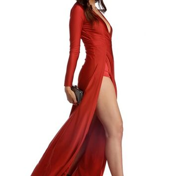 Mariah Red Siren Formal Dress