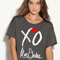 XO the weeknd boxy tshirt