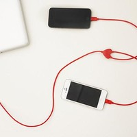 Dual Heart iPhone Charging Cable - Kikkerland Design Inc