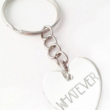Whatever Key Ring in Silver