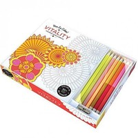 Vitality Adult Coloring Book Color Therapy Kit