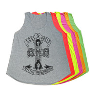 Guns N Roses Tank Top Rock T-Shirts Women Tshirt Size S M
