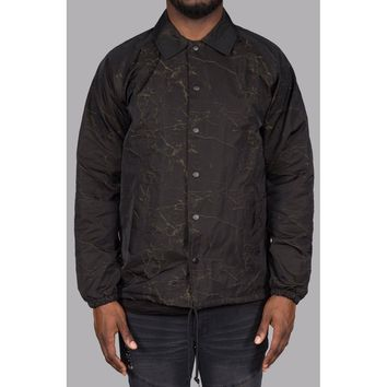 Fault Line Coaches Jacket (Black/Olive)