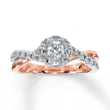 Diamond Engagement Ring 1/2 carat tw 10K Rose Gold
