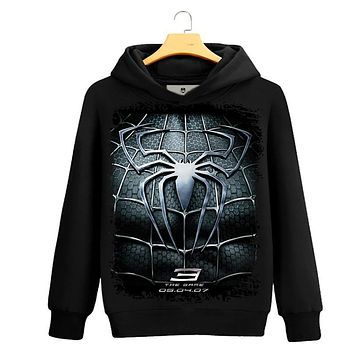 Spider-man 3D Print sweatshirt Men Black Superherofleece hoodies sweatshirts Spiderman Teenage Boy The Avengers Clothing