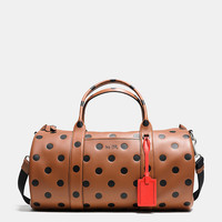 Barrel Bag in Saddle Dot Leather