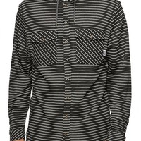 SUPERbrand Chop Long Sleeve Hooded Shirt - Mens Shirt - Black