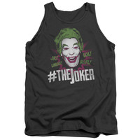 BATMAN CLASSIC TV/#JOKER-ADULT TANK-CHARCOAL