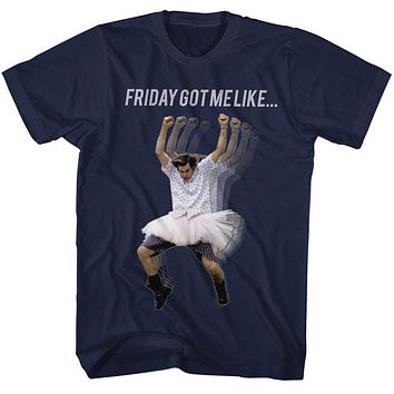 Ace Ventura T-Shirt Pet Detective Friday Got Me Like Navy Tee