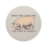 Does This Look Like The Face of Mercy? Grumpy Pig Drink Coaster
