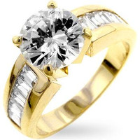 Antoinette Golden Engagement Ring, size : 08