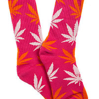 HUF The Plantlife Socks in Pink and Orange : Karmaloop.com - Global Concrete Culture