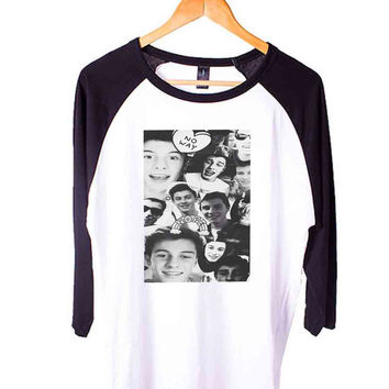 Shawn Mendes collage Short Sleeve Raglan - White Red - White Blue - White Black XS, S, M, L, XL, AND 2XL*AD*