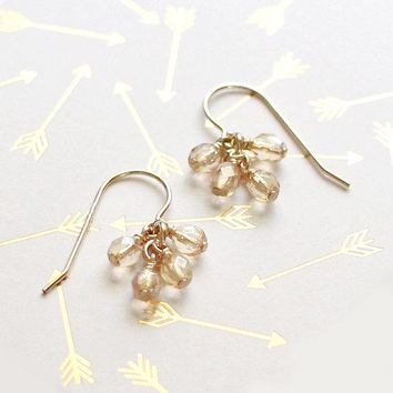 Lucky Earrings in Champagne