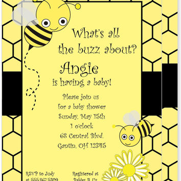 Bumble Bee Buzz Invitation