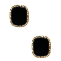 Kate Spade Madison Ave. Collection Empire Pave Studs Black ONE