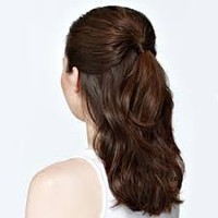 half up half down ponytail - Google Search