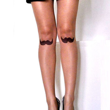 Tattoo tights - Mustache