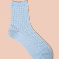 Tabio Tulle Gingham Crew Socks - WOMEN - Accessories - Tabio - OPENING CEREMONY