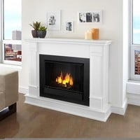 Real Flame Silverton White 48 in. L x 13 in. D x 41 in. H Gel Fireplace | Overstock.com Shopping - The Best Deals on Indoor Fireplaces