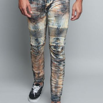 Copper Creased Biker Jeans DL1196 - II10D
