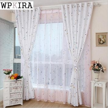 Cartoon Stars Printed Blackout Living Room Kids Window Drapes Curtain finished Product Cartoon Real Male Girl Bedroom S136&25