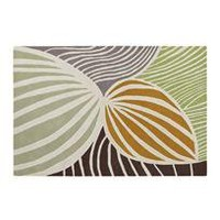 leaf rug - apricot - a modern, contemporary rug from chiasso