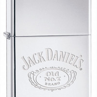 Zippo Jack Daniel's Logo High Polish Chrome Lighter