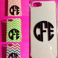 iPhone 4/5 Monogrammed Changable Background Case