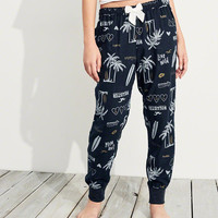 Girls Patterned Flannel Sleep Joggers | Girls New Arrivals | HollisterCo.com