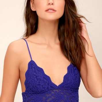 On the Outside Royal Blue Lace Bralette