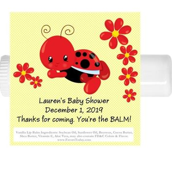 15 Ladybug Baby Shower Lip Balm Favor