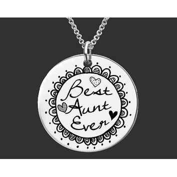 Best Aunt Ever Necklace | Aunt Gift