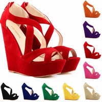 women ladies high heels platform women court casual pumps wedding ankle boots shoes = 1946696004