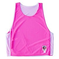 Neon Pink and White Reversible Lacrosse Pinnie