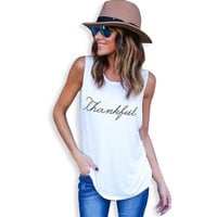 Women Fashion Summer Women T-Shirt Sleeveless