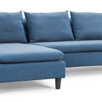 Axiom Sectional Sofa Cowboy Blue