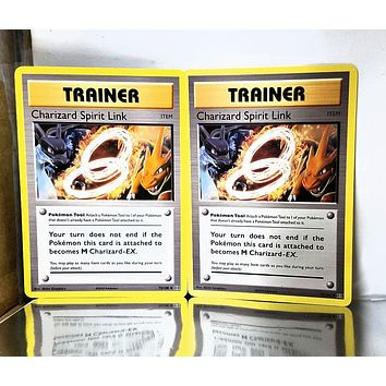 Charizard Spirit Link (x2) 75/108 Uncommon, Pokémon XY Evolutions TCG - PACK FRESH!!