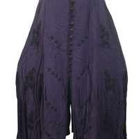 Womens Long Skirt Stonewashed Rayon Embroidered Purple Boho Peasant Skirts: Amazon.ca: Clothing & Accessories
