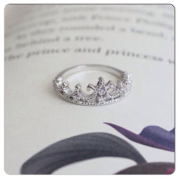 shop white gold crown ring on wanelo