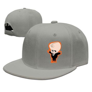 Boss Baby Movie Early Character Sketch Cotton Unisex Adult Womens Snapback Caps Mens Fitted Hats