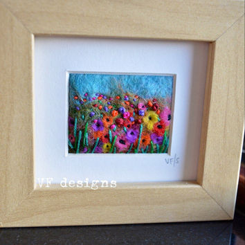 handmade original miniature picture. 'Summer daze'